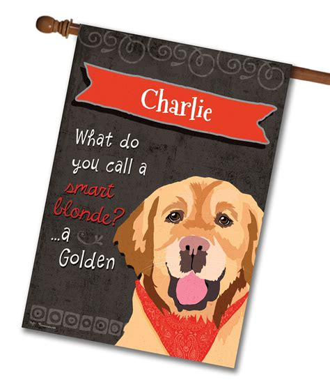 golden retriever flags personalized golden retriever house flag 28 x 40 custom printed flags