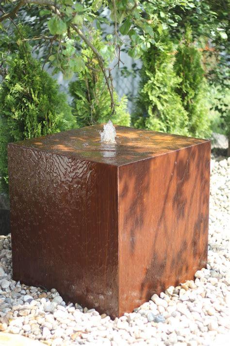 Cortenstahl Schneller Rosten by Wasserspiel Brunnen Cortenstahl W 252 Rfel Rost