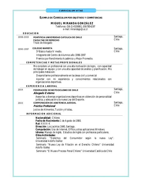 Modelo De Curriculum Vitae Persona Juridica 191 Como Construir Un Curriculum Vitae