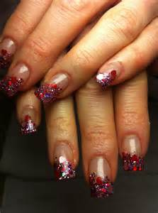nails glitter acrylic nails by