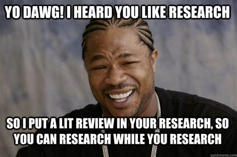 Do Your Meme - yo dawg i heard you like research so i put a lit review