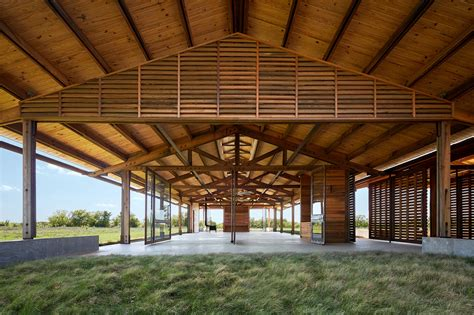 Prairie Style Architecture by Gallery Of Dixon Water Foundation Josey Pavilion Lake