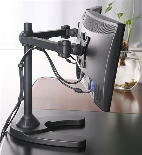 Tyke Supply Dual Monitor Stand Free Standing Tyke Supply Dual Lcd Monitor Stand Desk Cl