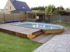 delightful Piscine Semi Enterree Acier #4: piscine-bois-semi-enterree.jpg