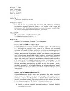 Crime Investigator Cover Letter by Crime Investigations Sle Cover Letter Crime