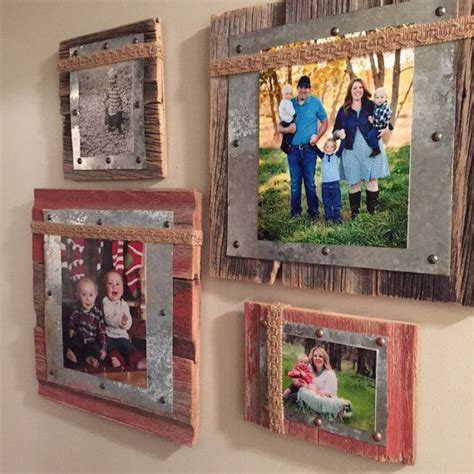 rustic shabby chic block frame picture holder home 9 rustic shabby chic block frame picture holder by