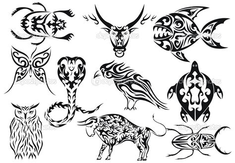 tribal animal tattoo designs tribal animal tattoos designs tattooshunt