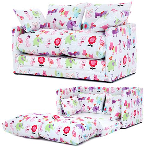 sofa bed childrens bedroom cute pets print children s bedroom sofa bed fold out futon