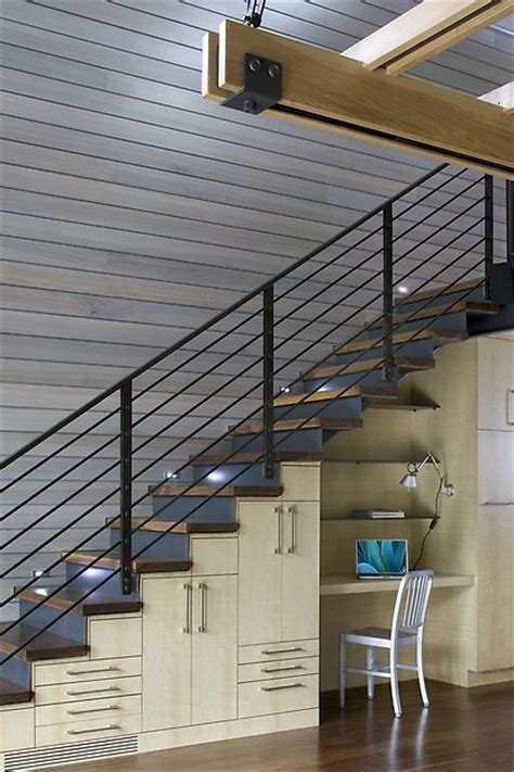 The Stairs Desk by Creative The Stair Storage Ideas Porch Advice