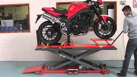 Garage Workshop Designs eazyrizer pro tech motorcycle service bay youtube