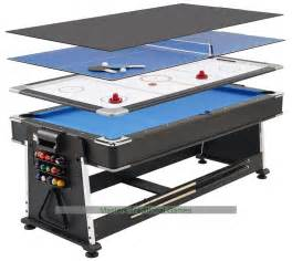 7ft 3 in 1 revolver pool air hockey table tennis table