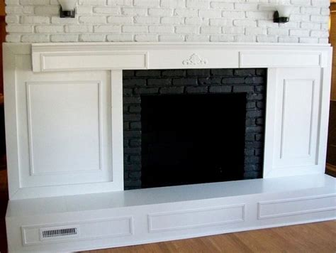 Fireplace Coverings Do Yourself by Covering A Brick Fireplace Fireplaces