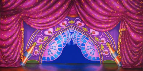 Home Theatre Decoration Ideas Be Our Guest Celebration Curtain Scenic Stage Backdrop