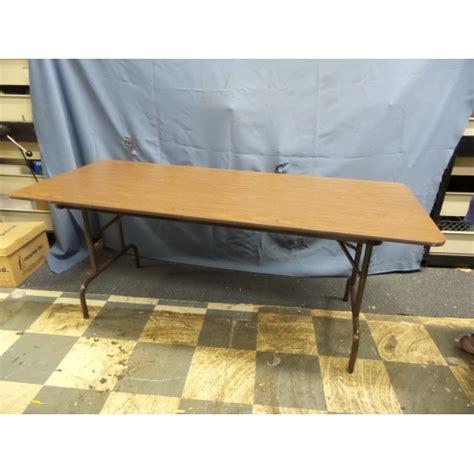 6 ft wood folding table 6 ft wood folding table metal legs 72 x 30 in