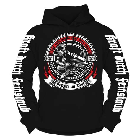 Hoodie Motorrad Spr Che by Kapuzenpullover Benzin Im Blut Hoodie Rocker Biker