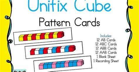 pattern help math unifix cube pattern cards 3 00 kindergartenklub com