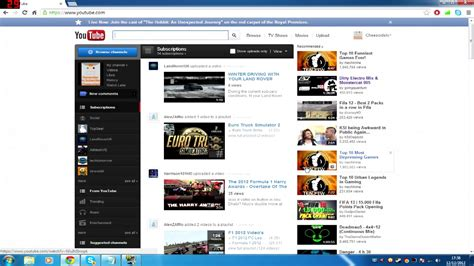 youtube old channel layout image gallery old youtube layout