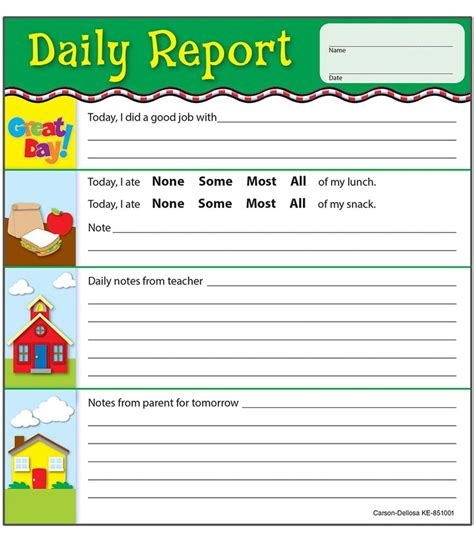 nursery daily diary template 25 best ideas about preschool daily report on