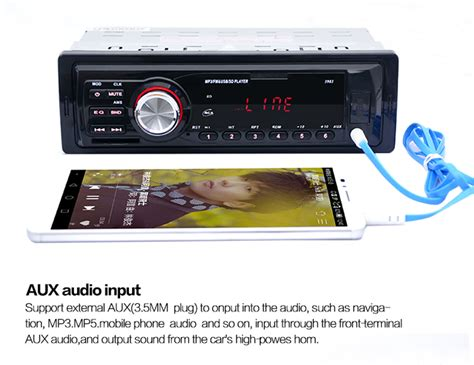 Audio Usb Mp3 Player car audio stereo 12v mp3 player led display support fm