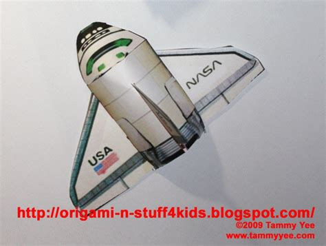 How To Make Paper Space Shuttle - origami n stuff 4 crafts space shuttle paper model