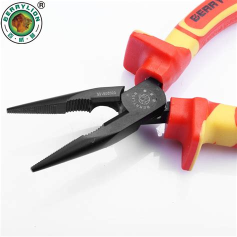high voltage electrician certification berrylion 6inch 8inch insulated nose pliers 1000v