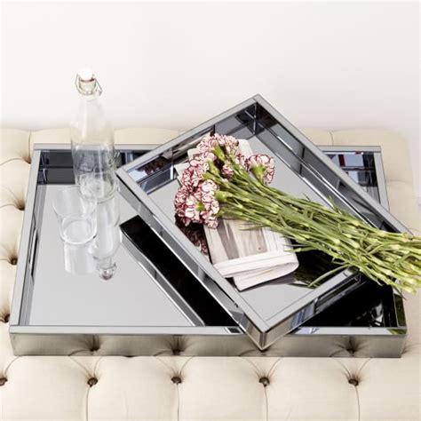 west elm ottoman tray blue mirrored glass trays west elm
