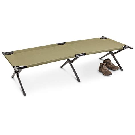 hq issue military style camping cot 232295 cots at