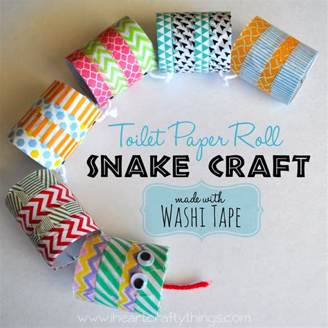 Things To Make Out Of Toilet Paper Rolls - i crafty things cardboard roll snake craft
