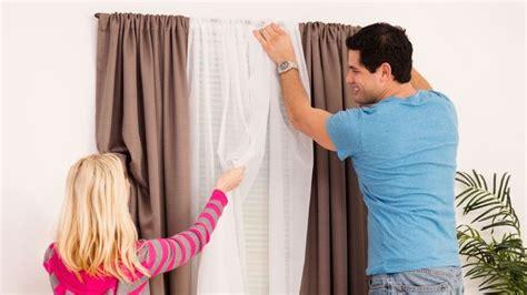 Comment Installer Des Doubles Rideaux by Comment Poser Des Rideaux C 244 T 233 Maison