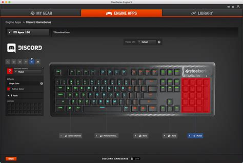 discord quick switcher apex 150 rgb gaming keyboard steelseries