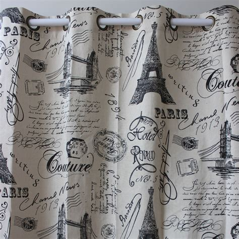 eiffel tower bedroom curtains new wholesale black eiffel tower cotton linen window ready