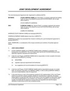 app development contract template joint development agreement standard template sle