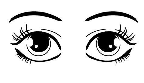 coloring pages of two eyes brown eyes clipart cartoon pencil and in color brown