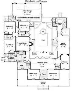 floor plan with courtyard in middle of the house indoor courtyard on pinterest portable swimming pools