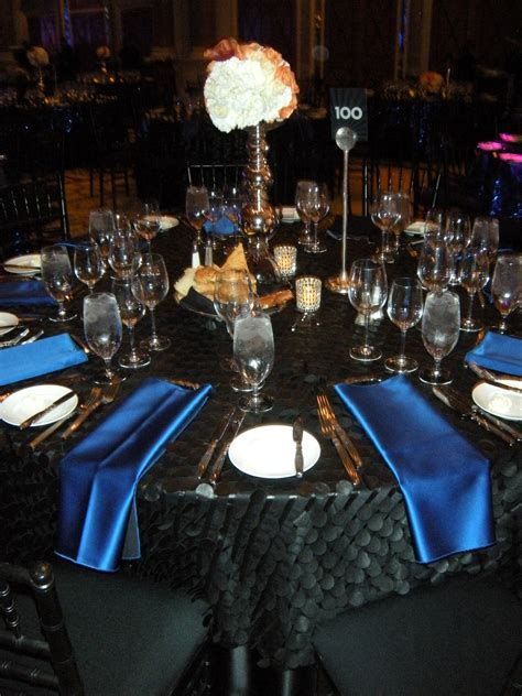 black blue and silver table settings true i m obsessed do something 100