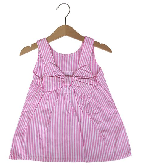 Backless Dress Anak bow backless dress stripe pink size 24m 6t 8t