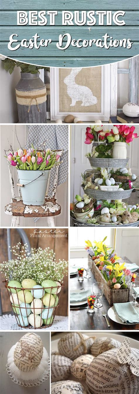 easter home decor 20 rustic easter decorations bringing a farmhouse appeal
