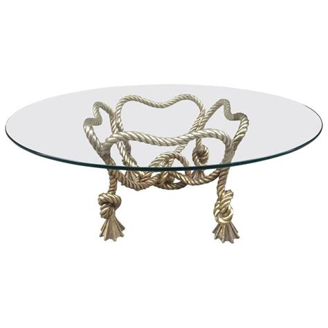 Rope Coffee Table Maison Jansen Style Bronze Rope Coffee Table For