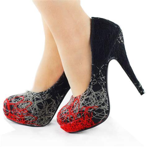 Heel Shoes Lines new trendy abstract lines stiletto high heels platform