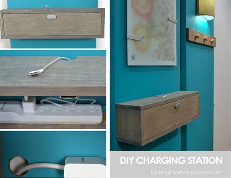 build your own charging station diy charging station shelf combo smart diy solutions for renters