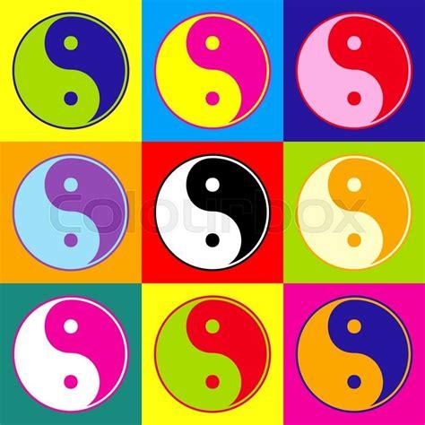 yin yang colors ying yang symbol of harmony and balance pop style