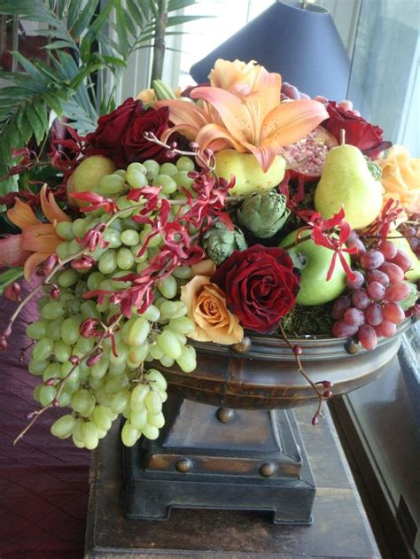 centerpieces with fruit and flowers google search