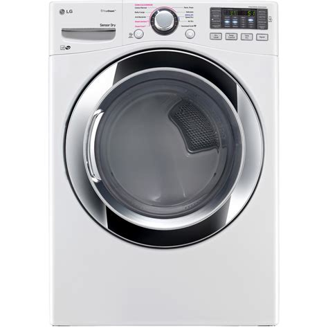 shop lg 7 4 cu ft stackable electric dryer white energy star at lowes com