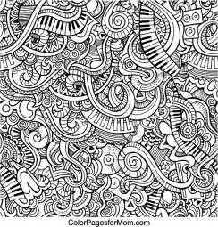 doodles 59 advanced coloring page