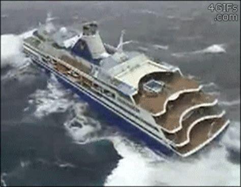 big boat gif cruise ship on heavy seas thalassophobia