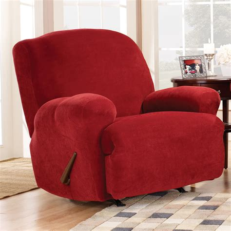 small recliner slipcovers sure fit stretch pique medium recliner slipcover chair