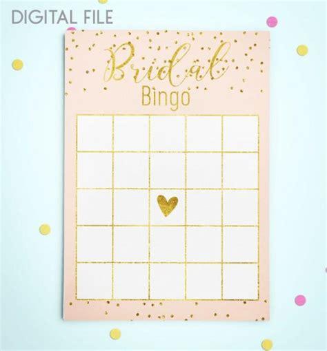 printable wedding shower bingo game bingo game download bridal bingo gold foil confetti bridal