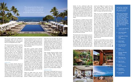 layout features of a magazine travel feature magazine design