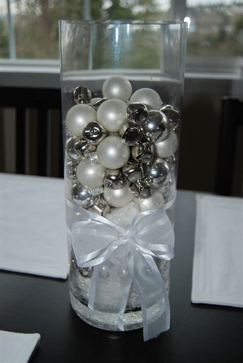 silver christmas table decorations chainimage
