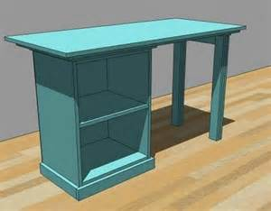 ana white modular office small desktop diy projects